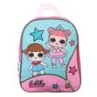 Рюкзачок детский L.O.L, 25 х 20.5 х 10.5 см, для девочки, розовый/голубой