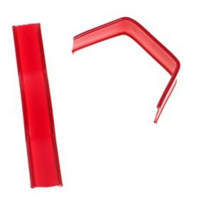 Клип-лента в нарезке, загнутая, красный, 5 см Ош