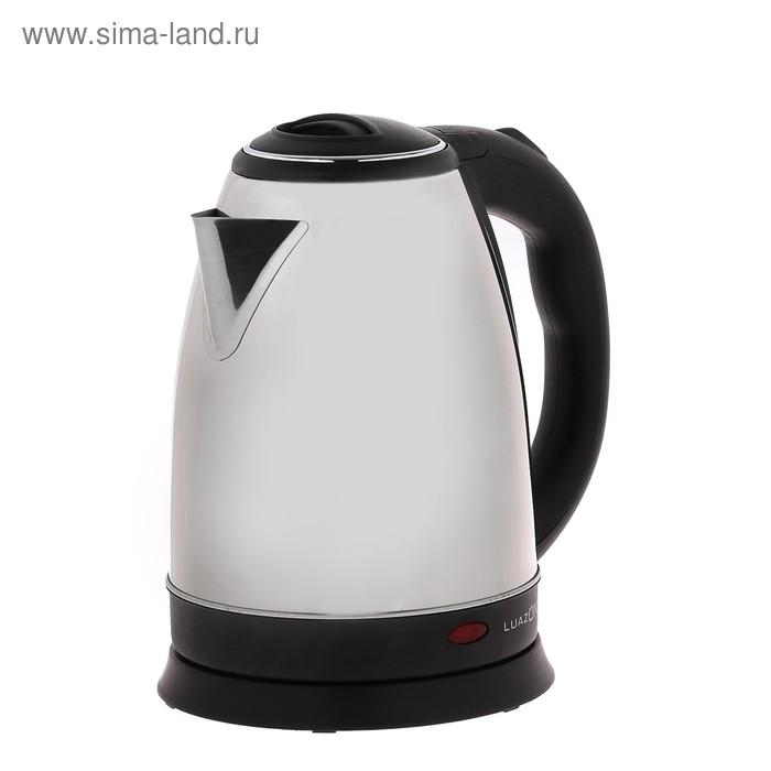 Чайник электрический LuazON LSK-1808, 1500 Вт, 1.8 л, металл, серебристый