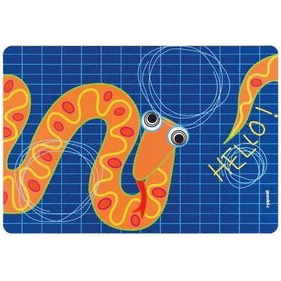 Коврик сервировочный детский Hello, змея - Фото 1