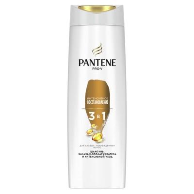 Шампунь для волос 3 в 1 Pantene «Интенсивное восстановление», для слабых и поврежденных волос, 360 мл - Фото 1