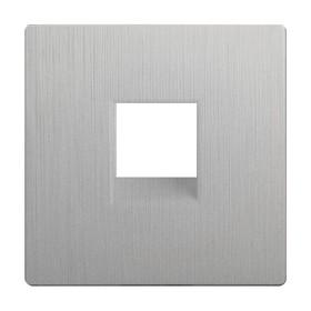 Накладка для RJ11 WL09-RJ-11-CP, цвет серебряный рифленый