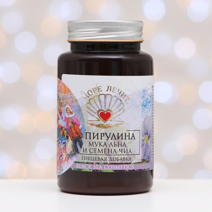 Пищевая добавка Бизорюк «Спирулина + мука льна + семена чиа», 130 мл.