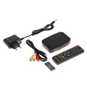 Приставка для цифрового ТВ D-COLOR DC610HD, FullHD, DVB-T2, HDMI, RCA, USB, черная