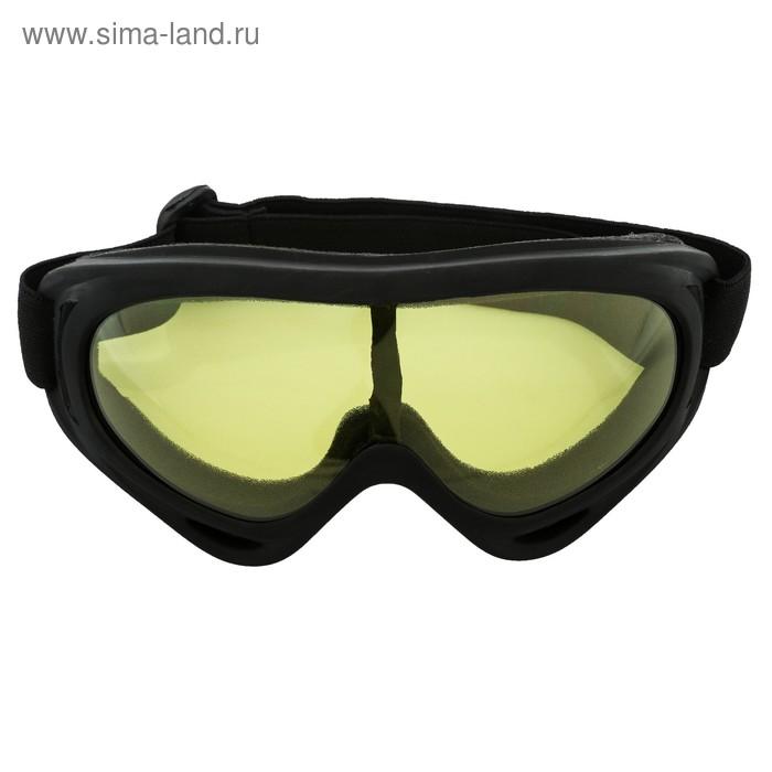 Очки для езды на мототехнике Torso, стекло желтый, черные