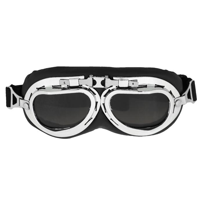 Очки для езды на мототехнике ретро Torso, стекло с затемнением, черные