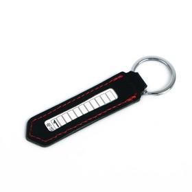 Брелок для ключей с номером телефона, кожа PU, черный Ош