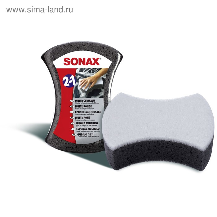 Многоцелевая двухсторонняя губка Sonax