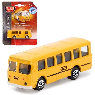 Автобус металлический «Рейсовый», 7,5 см - Фото 1
