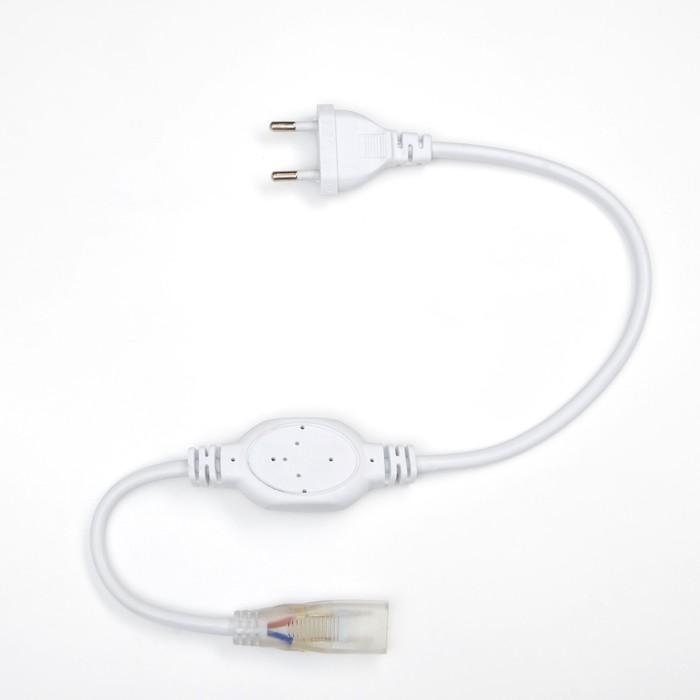 Блок питания для светодиодной ленты Ecola, 14х7 мм, 1500 Вт, 220В, IP68, с разъемом и вилкой