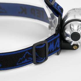 Фонарик налобный 'Мастер К', 14 LED, рассеиватель микс, 3 ААА, 7х4 см Ош