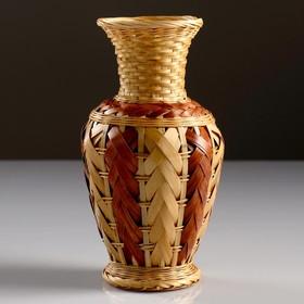 Кашпо «Ваза», 10×19 см, бамбук Ош