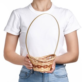 Корзина «Ладья», 18×16×6 см, бамбук Ош