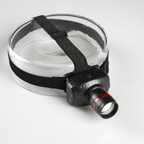 Фонарик налобный 'Дозор', 1 LED, 3 ААА, 7х6х4 см Ош