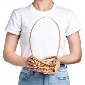 Корзина «Ладья», 16×13×6 см, бамбук