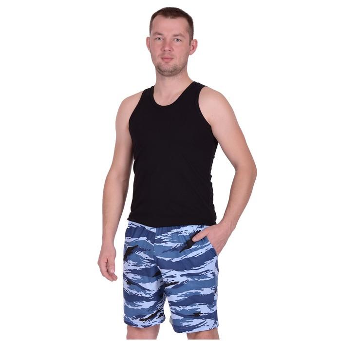 Шорты мужские, цвет камуфляж синий, р-р 46
