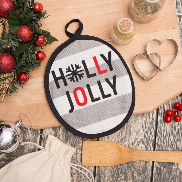 """Прихватка """"Holly Jolly"""" 17х17см,100% хл 160 г/м2, рогожка"""