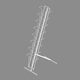 Буклетница напольная с дисплеем 8 ячеек А4, цвет белый Ош
