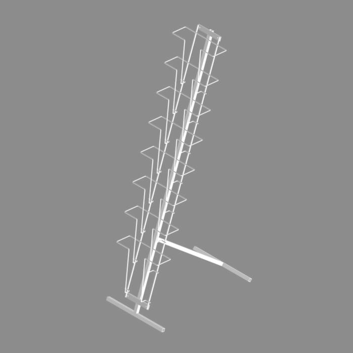 Буклетница напольная с дисплеем 8 ячеек А4, цвет белый