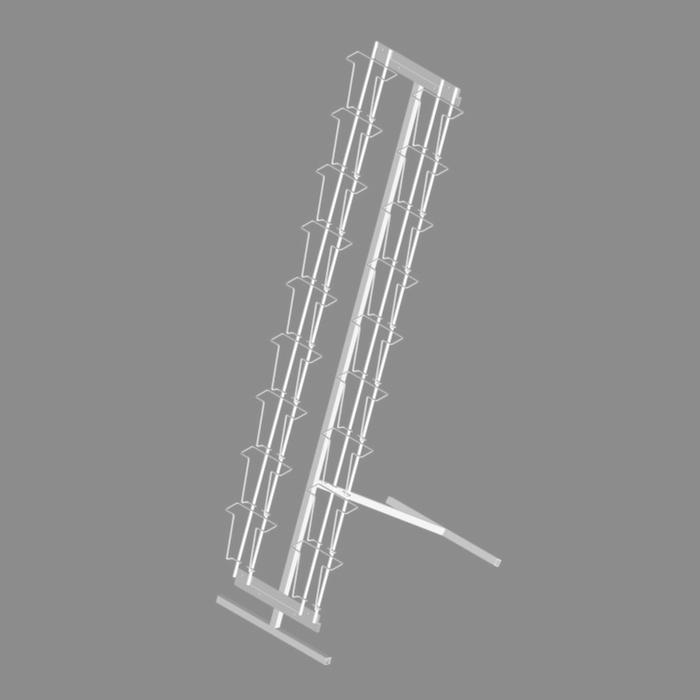Буклетница напольная с дисплеем для открыток 18 ячeeк А6, цвет белый