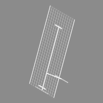 Стенд напольный с сеткой 1500х600мм, цвет белый