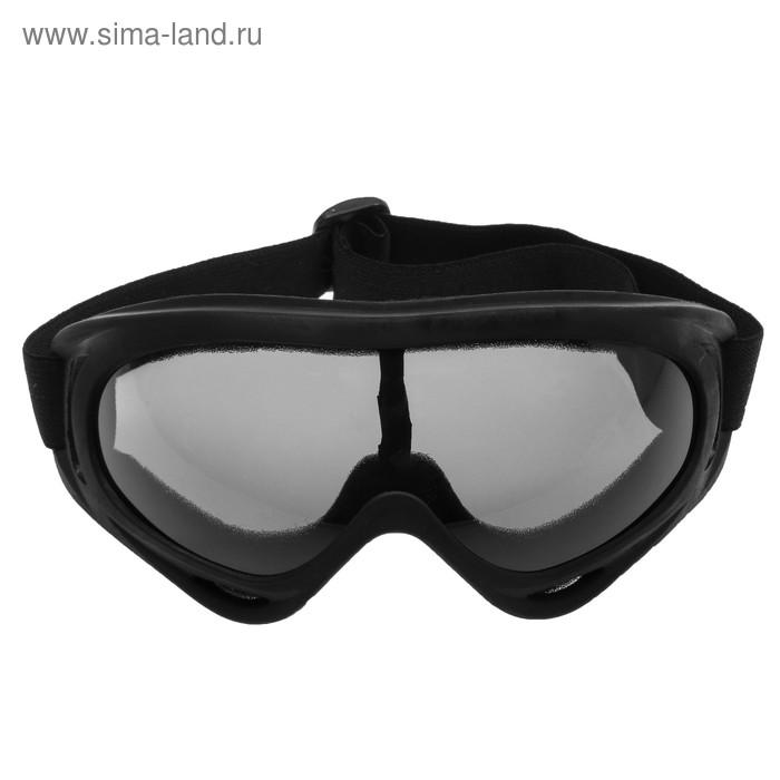 Очки для езды на мототехнике Torso, стекло прозрачное, черные