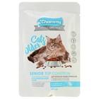 Влажный корм Chammy Premium для пожилых кошек старше 8 лет, кролик/индейка, 85 г