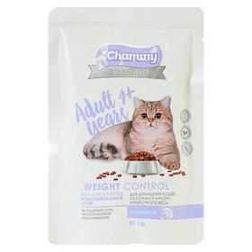 Влажный корм Chammy Premium для домашних кошек, склонных к полноте, индейка, 85 г Ош