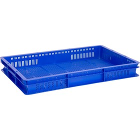 Ящик универсальный, перфорированный 600x400x75 синий