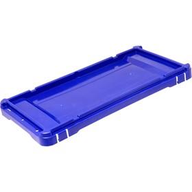 Крышка для ящика  сплошная синяя морозостойкая