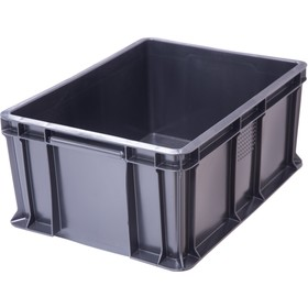 Ящик универсальный, сплошной 400х300х180 черный