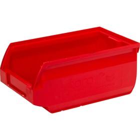Лоток для склада Sanremo, сплошной, 170х105х75 красный Ош