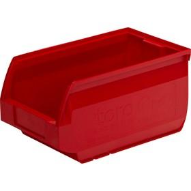 Лоток для склада Verona, сплошной 250х150х130 красный Ош