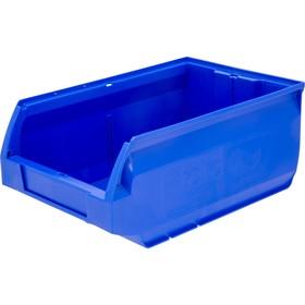 Лоток для склада Milano, сплошной 350х230х150 синий Ош