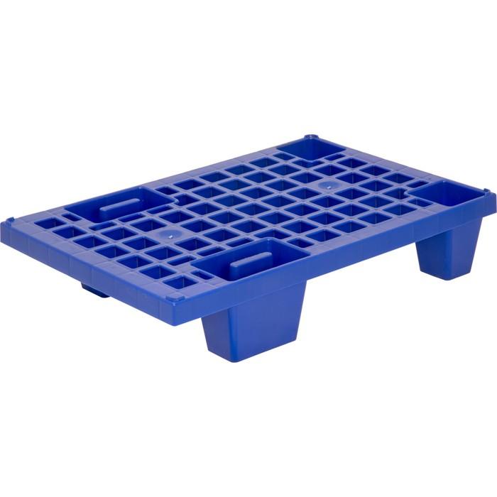 Паллет перфорированный на ножках 600х400х130 синий
