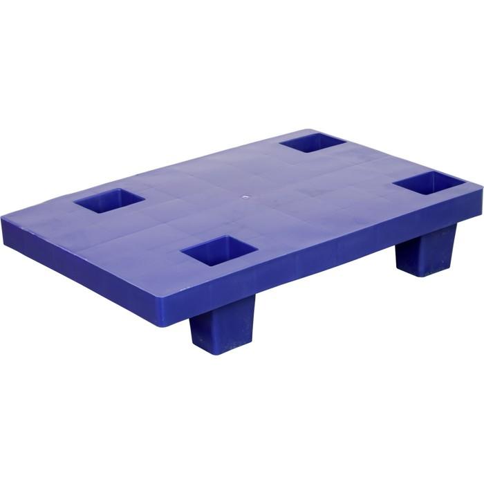 Паллет сплошной на ножках 600х400х130 синий