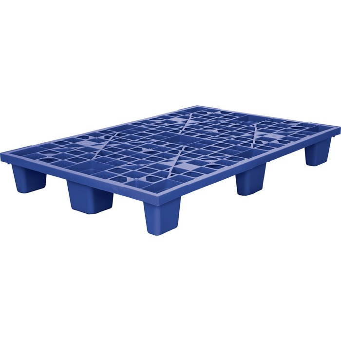 Паллет перфорированный на ножках 1200х800х160 синий