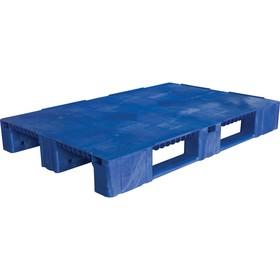 Паллет сплошной на 3-х полозьях 1200х800х150 синий Ош