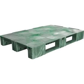 Паллет сплошной на 3-х полозьях 1200х800х150 зеленый Ош