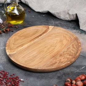 Тарелка-доска деревянная, 25 см, массив дуба