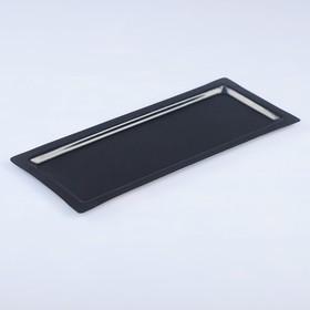 Поднос, заготовка под роспись, 31,5×13,5 см, чёрный Ош