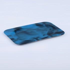 Поднос «Семечко», заготовка под роспись, 12×8 см, синий Ош
