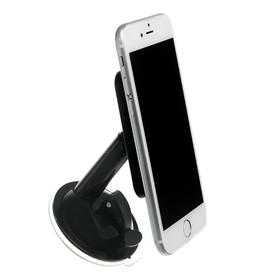 Подставка для телефона LuazON, держатель на восьми липучках, регулировка положения, чёрная Ош