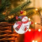 """Подвеска новогодняя """"Снеговик с конфетой"""""""