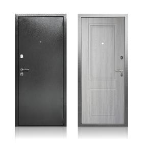 Сейф-дверь «Абсолют Грей», 870 × 2050 левая, цвет серебристый антик / дуб филадельфия грей