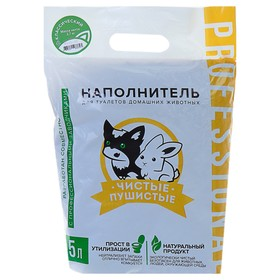 Наполнитель зерновой комкующийся 'Чистые пушистые' классический, гранула ᴓ 2.5мм/2.7 кг/5л Ош