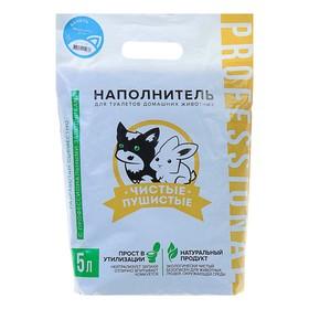 Наполнитель зерновой комкующийся 'Чистые пушистые' аром.ванили, гранула ᴓ 2.5мм/2.7 кг/5л Ош