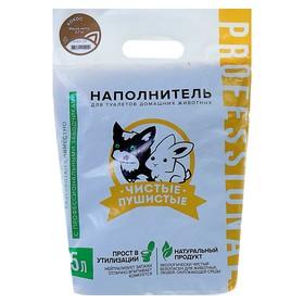 Наполнитель зерновой комкующийся 'Чистые пушистые' аром.кокоса, гранула ᴓ 2.5мм/2.7 кг/5л Ош