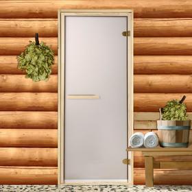 Дверь стеклянная «Бронза матовая», размер коробки 190 × 70 см, 6 мм, 2 петли Ош
