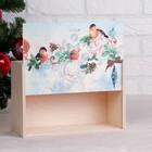 """Коробка подарочная """"Новогодняя, со снегирями"""", натуральная, 20×30×12 см - Фото 2"""